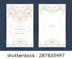 vintage ornate cards in... | Shutterstock .eps vector #287835497