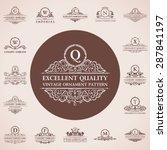 calligraphic logos set. vintage ... | Shutterstock .eps vector #287841197