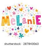 melanie girls name decorative... | Shutterstock .eps vector #287843063