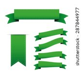 green ribbon vector set | Shutterstock .eps vector #287844977