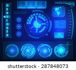 abstract future  concept vector ... | Shutterstock .eps vector #287848073