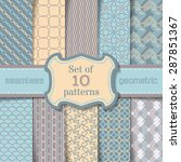 vector set of seamless... | Shutterstock .eps vector #287851367