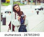 young fashion woman... | Shutterstock . vector #287852843