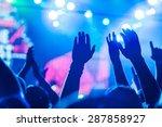 popular music concert  crowd ... | Shutterstock . vector #287858927