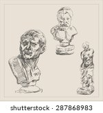 Ancient Person Sculpture Bust...