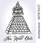all seeing eye pyramid symbol.... | Shutterstock .eps vector #287874227