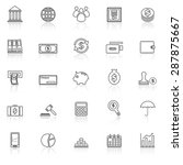 banking line icons with reflect ... | Shutterstock .eps vector #287875667