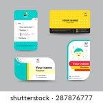 contact card template. business ... | Shutterstock .eps vector #287876777