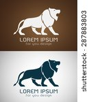 vector image of an lion design... | Shutterstock .eps vector #287883803