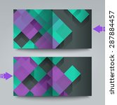 brochure template with abstract ... | Shutterstock . vector #287884457
