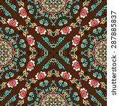 seamless pattern ethnic style.... | Shutterstock .eps vector #287885837