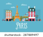 flat stylish vector... | Shutterstock .eps vector #287889497