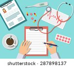 medical workplace. doctor... | Shutterstock .eps vector #287898137