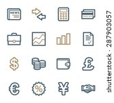 finance web icons set | Shutterstock .eps vector #287903057