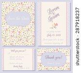 vector set of pastel tender... | Shutterstock .eps vector #287918237