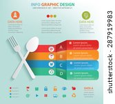 spoon info graphic design ... | Shutterstock .eps vector #287919983