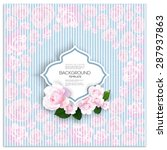 marriage invitation card with... | Shutterstock .eps vector #287937863