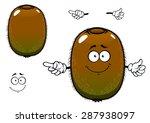 ripe kiwi fruit cartoon... | Shutterstock .eps vector #287938097