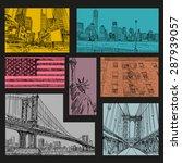hand drawn new york city... | Shutterstock .eps vector #287939057