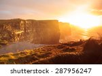Famous Cliffs Of Moher At...