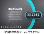 creative background coming soon ... | Shutterstock .eps vector #287965943