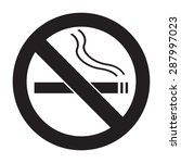 icon no smoking flat | Shutterstock . vector #287997023