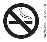 icon no smoking flat | Shutterstock . vector #287997023