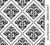 damask seamless pattern. fine ... | Shutterstock . vector #288015647