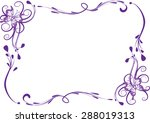 vector line with butterfly... | Shutterstock .eps vector #288019313