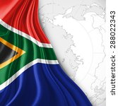 south africa  flag of silk with ... | Shutterstock . vector #288022343