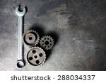 group of rusty transmission... | Shutterstock . vector #288034337