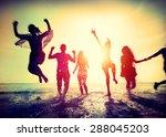 Diverse Beach Summer Friends...