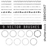 collection of vector brushes.... | Shutterstock .eps vector #288045347