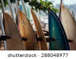 set of different color surf... | Shutterstock . vector #288048977
