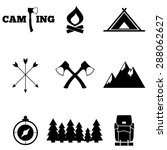 icon set camping | Shutterstock .eps vector #288062627