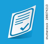 sticker with document page and...