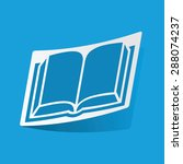 sticker with open book icon ...