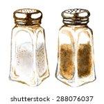 Watercolor Salt And Pepper...