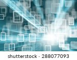 abstract cyberspace rectangle... | Shutterstock . vector #288077093