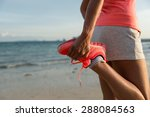 running and healthy lifestyle... | Shutterstock . vector #288084563
