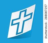 sticker with christian cross...