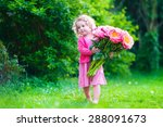 Little Cute Girl With Peony...