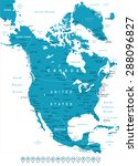north america   map and... | Shutterstock .eps vector #288096827
