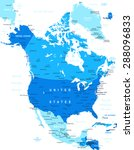 north america map   highly... | Shutterstock .eps vector #288096833