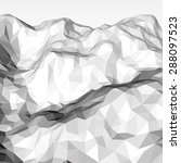 white abstract low poly ...