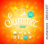 colorful lettering summer and... | Shutterstock .eps vector #288101357