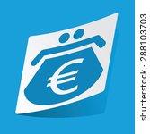 sticker with euro purse icon ...