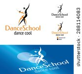 dance school logo template | Shutterstock .eps vector #288114083