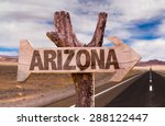 Arizona Wooden Sign With Deser...