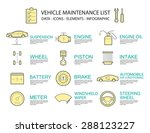 set of flat line icon  ... | Shutterstock .eps vector #288123227